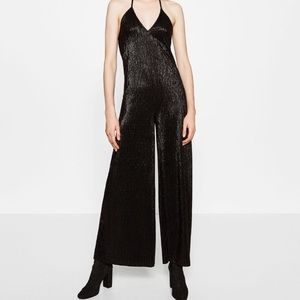 Zara Halter-Neck Black Jumpsuit